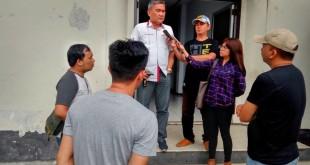 Dirut PD Pasar saat bertandang ke Mapolda Sulut