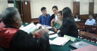 Saksi Risma saat di persidangan perkara korupsi solar cell