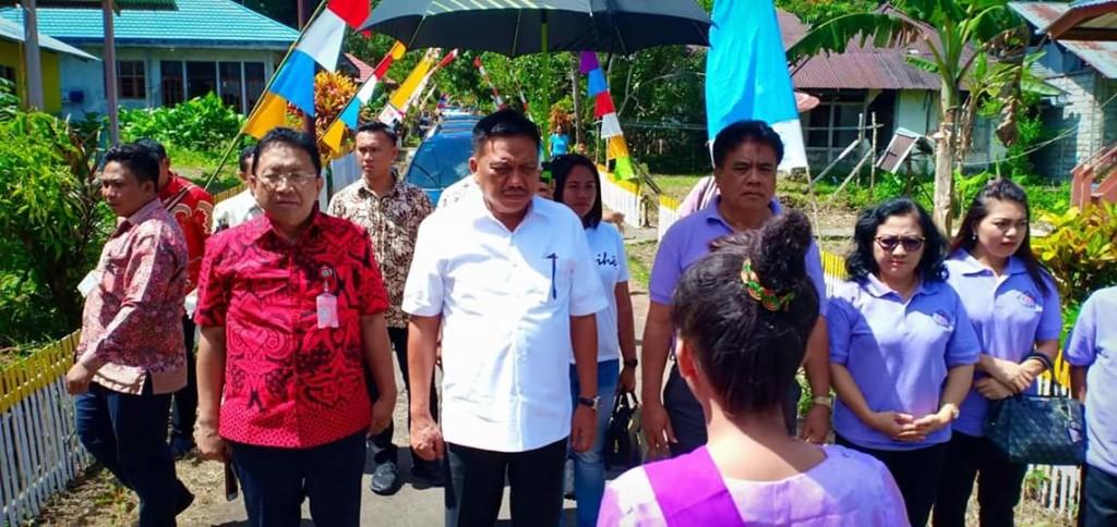 Gubernur Olly Bersama Sekdaprov Edwin Silangen, dan Bupati Sangihe