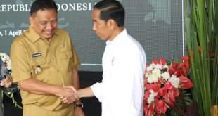 Presiden Joko Widodo dengan program Nawacita mendukung pembangunan di Sulut.(Foto: dok/Anthoni)
