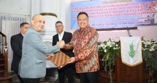 Gubernur Olly Dondokambey sebagai Ketua FK PKB PGI di GPIB Immanuel Semarang, Jawa Tengah, Minggu (12/5/2019).(Foto: hms)