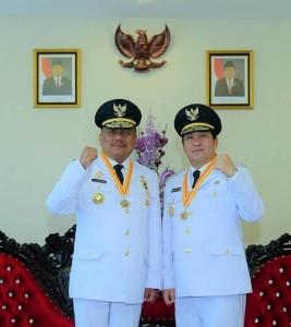 Gubernur Sulut Olly Dondokambey dan Wagub Sulut Steven Kandouw.
