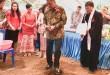 Gubernur Sulut Olly Dondokambey menghadiri ibadah syukur HUT ke-5 Jemaat dan meletakkan batu pertama pembangunan gedung gereja GMIM Bukit Zaitun Malalayang Timur Satu.(Foto: hms