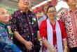 Gubernur Sulut Olly Dondokambey menghadiri ibadah pentahbisan Gedung GMIM Solafide Rasi Satu, Ratahan, Minahasa Tenggara, Minggu (19/5/2019) sore.(Foto: hms)