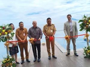 Peresmian investasi budidaya ikan lepas pantai oleh Gubernur Olly Dondokambey dan Dubes AS untuk RI Joseph Donovan Jr, Senin 17 Juni 2019.(Foto: dok/hms)
