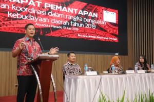 Wagub Sulut Steven Kandouw  saat membuka Rapat Pemantapan Peran Koordinasi Dalam Rangka Penguatan Kebudayaan, di Manado. Kamis 13 Juni 2019.(Foto: dok/hms)