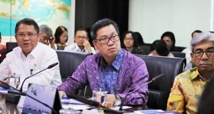 Wagub Sulut Steven Kandouw memaparkan kesiapan Sulut sebagai tuan rumah SOM IAS 2019,  Oktober mendatang.(Foto: ist)