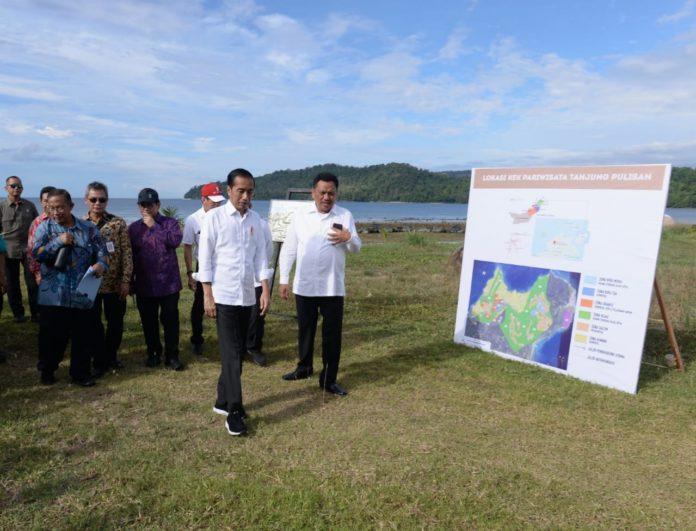 "Peninjauan di KEK Tanjung Pulisan di Likupang Kabupaten Minahasa Utara.(Foto"" ist)"