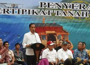 Presiden RI Joko Widodo saat sambutan di Graha Gubernuran Bumi Beringin, Manado, Kamis 4 Juli 2019.(foto: gyp)