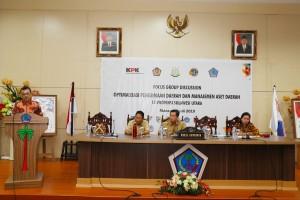 FGD Optimalisasi Penerimaan Daerah dan Manajemen Aset Daerah yang dilaksanakan di ruang CJ Rantung kantor gubernur, Selasa 9 Juli 2019.(Foto: hms)