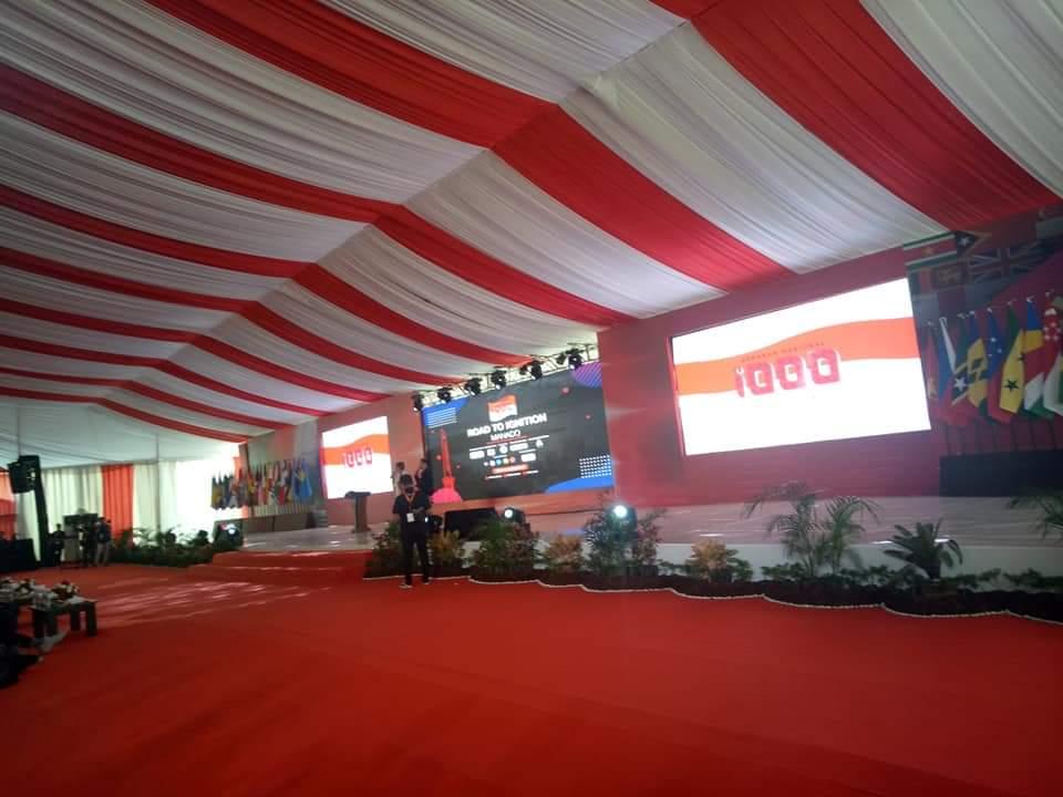 Lokasi pembukaan AIS Forum dan SBS 2019 di kawasan Megamas, Manado.(Foto: ist)