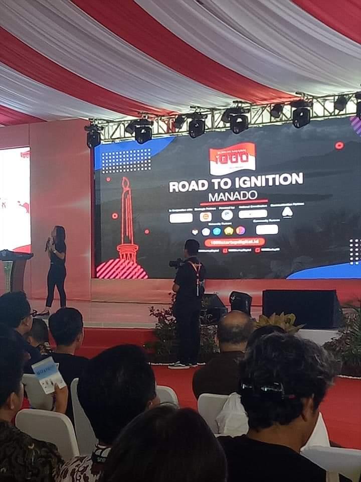 Acara Gerakan Nasional 1000 Startup Digital di kawasan Megamas Manado, Rabu 30 Oktober 2019.(Foto: hbm)
