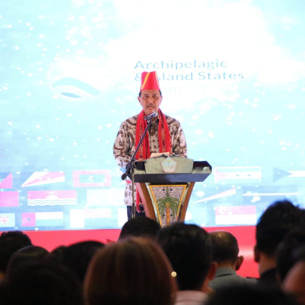 Sambutan Menko Kemaritiman dan Investasi RI Luhut Binsar Panjaitan.(Foto: hbm)