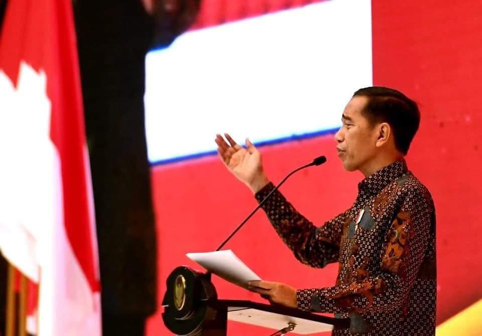 Presiden RI Joko Widodo saat menghadiri Rakornas PBJ 2019.(Foto: dok/ton)