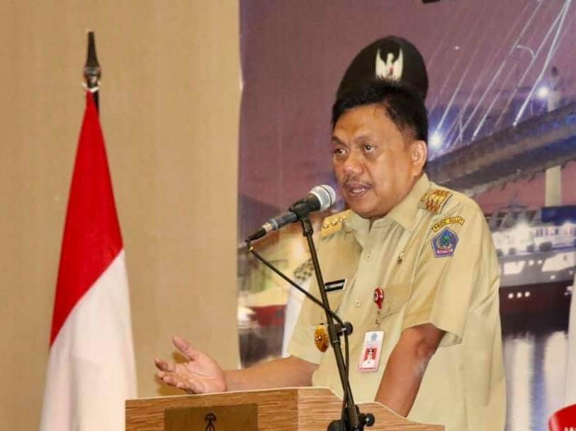 Gubernur Sulut Olly Dondokambey SE saat sambutan.(Foto: dok/odfb)