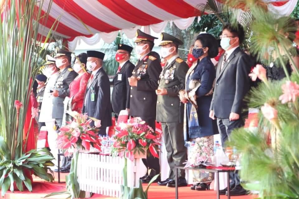 Jajaran Forkopimda Provinsi Sulut mengikuti upacara.(Foto: ist)