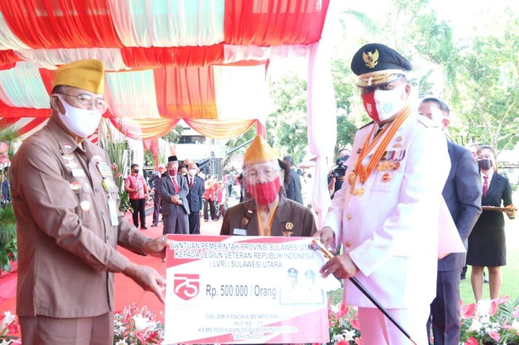Penyerahan bantuan bagi LVRI Sulut oleh Gubernur Olly Dondokambey.(Foto: ist)