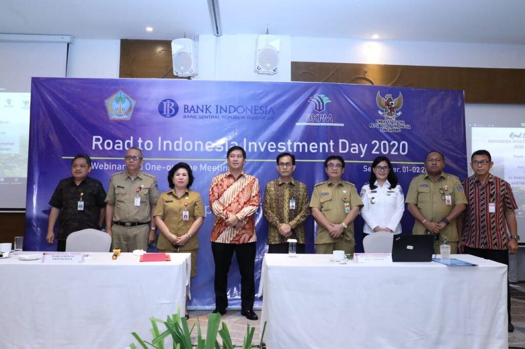 Wagub Sulut Drs Steven OE Kandouw usai pemaparan pada Road To Indonesia Investment Day 2020, Selasa 1 September 2020.(Foto: hbm)
